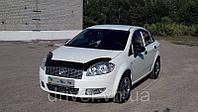 Дефлектор капота (мухобойка) Fiat Linea 2007-, на крепежах