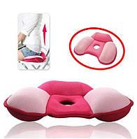 Ортопедическая подушка на сидение для женщин. Модель Япония(пена памяти). При профилактике и лечении геморроя.