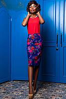 Стильный женский костюм Ирис  Jadone синий  42-50  размеры