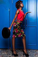 Стильный женский костюм Ирис  Jadone черный 42-50  размеры