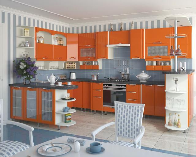Кухня София Люкс (цвет оранж)