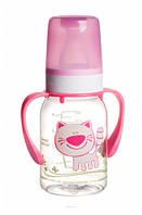 Бутылочка для кормления Ферма 120 мл (розовый котик), Canpol babies