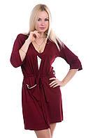 Комплект трикотажный для дома, ночная сорочка+халат, К120н