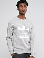 Свитшот,кофта Adidas серого цвета.