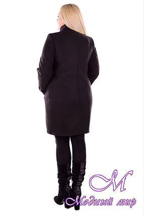 Женское зимнее пальто с хомутом батал (р. XL-4XL) арт. Эльпассо донна Турция элит зима - 5243, фото 2