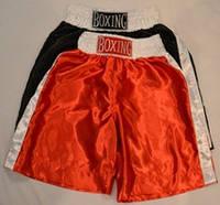 Шорты для бокса красные с белыми вставками, 85 см.