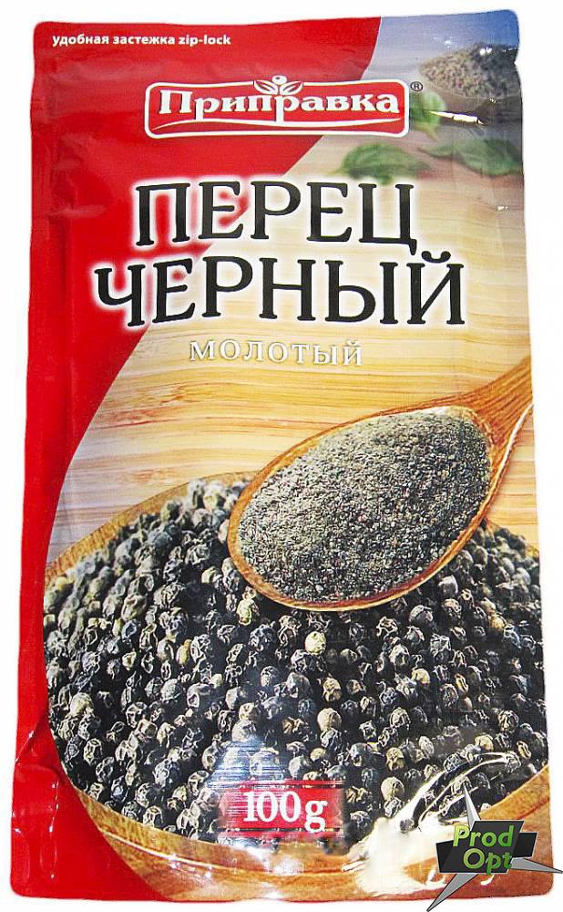 Приправка Перець Чорний мелений 100 г