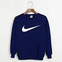 Темно-синяя мужская толстовка Nike.