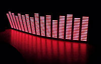 Эквалайзер на стекло. 80 х 19 см красный