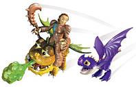 Валка с малышами Змеевиком и Громмелем, (6 см), Как приручить дракона, Spin Master