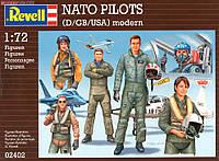 Военные лётчики NATO PILOTS (D/GB/USA) modern, 1:72, Revell