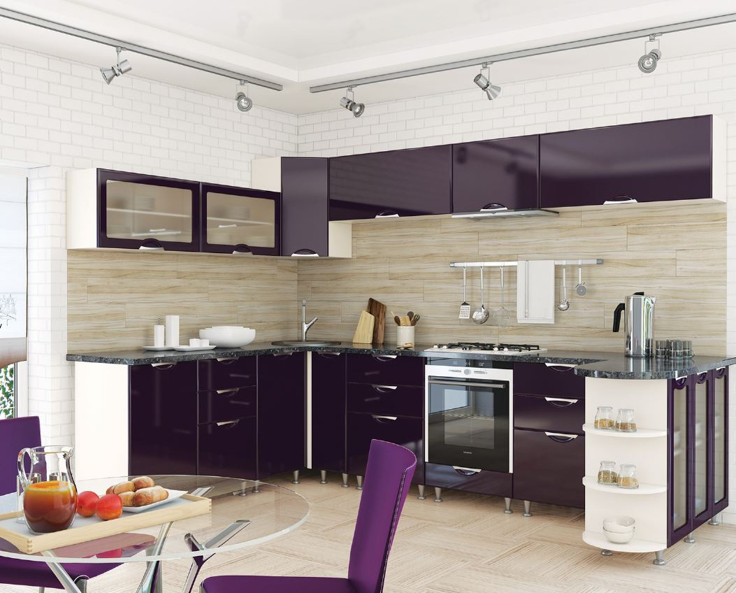 Кухня София Люкс Кухня 2 метра, Фиолет - Матрас Диван - мебельный интернет магазин в Киеве