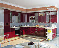 Кухня София Люкс Кухня 2,6 метров, Бордо