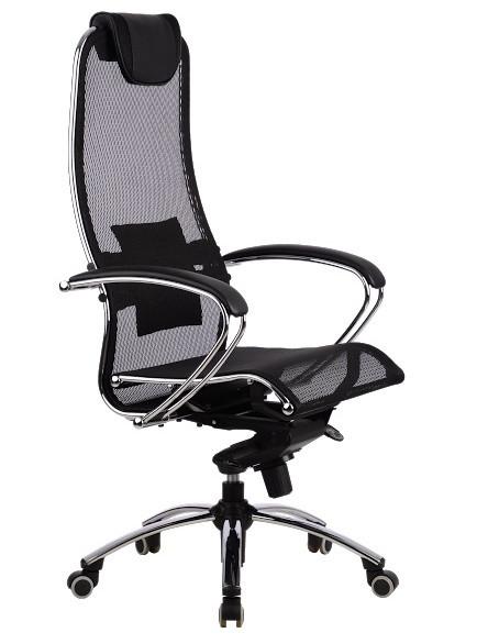 Кресло для руководителя Samurai S1 Black эргономичное