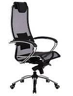 Кресло для руководителя Samurai S1 Black эргономичное, фото 1