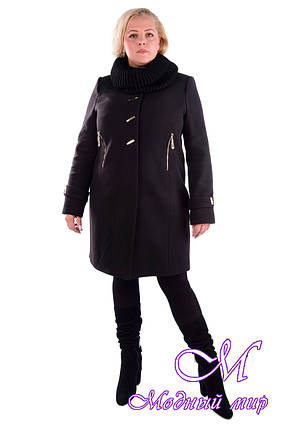 Женское элегантное зимнее пальто больших размеров (р. XL-4XL) арт. Палермо донна хомут зима - 5261, фото 2