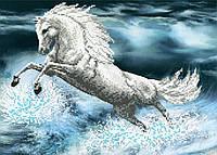 """Схема для вышивки бисером """"Белая лошадь"""", А3"""
