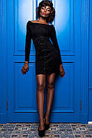 Черный женский  сарафан Герда  Jadone  42-48 размеры