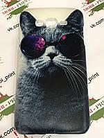 Чехол для Samsung Galaxy J7 J700 (Кот в очках)