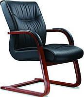Кресло Монтана конференц черная кожа люкс