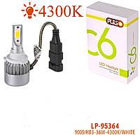 Лампа автомобильная  PULSO С6/LED/HB3 9005 P20D/2*280°COB/12-24v36w/3800Lm/4300K