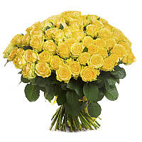 "101 роза желтого цвета ""Лимона"""