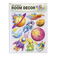 Декорации для детской комнаты Космос - набор наклеек, Mota