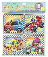 Декорации для детской комнаты - набор наклеек Машинки, Mota