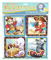 Декорации для детской комнаты - набор наклеек Пираты, Mota
