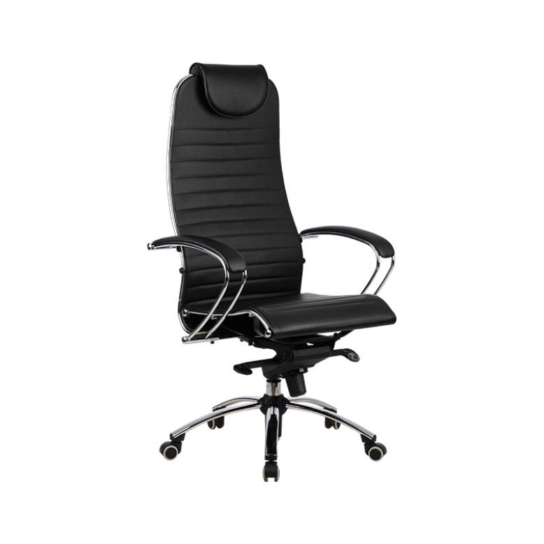 Кресло кожаное Samurai K1 BLACK