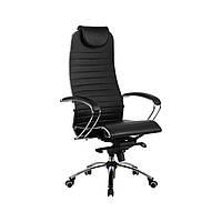 Кресло кожаное Samurai K1 BLACK, фото 1