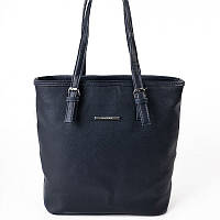 Женская сумка корзина синяя матовая с ручками