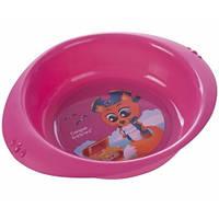 Детская тарелка пластиковая Пираты,розовая,  Canpol babies