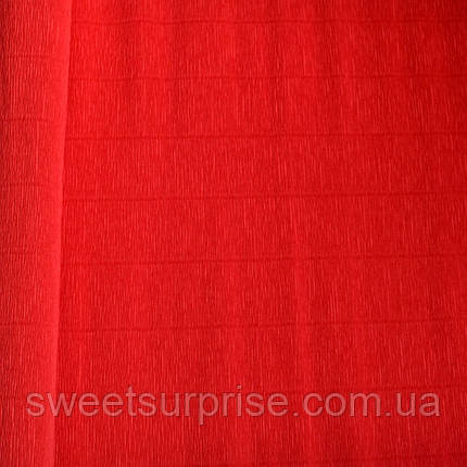 Итальянская гофрированная бумага (580) красный, фото 2