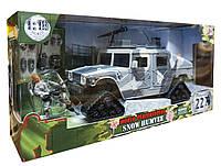 Джип Snow Humvee, военный набор с солдатиками, M&C Toy