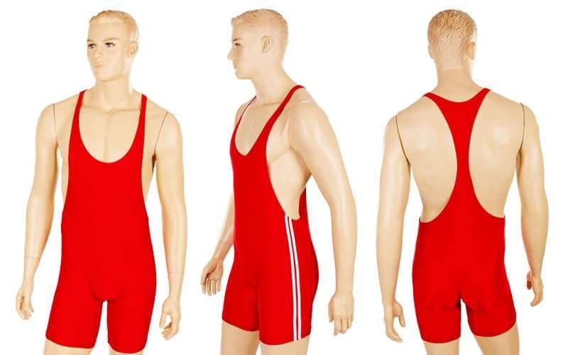 Трико для тяжелой атлетики мужское красное и синее (нейлон, эластан, р-р XL-4XL) Красный, 3XL - ADX.IN.UA в Одессе