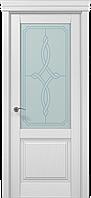"""Двери межкомнатные Папа Карло """"Milenium ML-11 бевелс"""" ясень белый"""