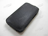 Кожаный чехол флип Fly IQ239 Era Nano 2 (черный)