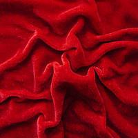Велюр-стрейч - цвет красный