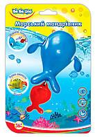 Заводная игрушка для купания Морской путешественник Кит (укр. упаковка), BeBeLino