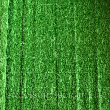 Итальянская гофрированная бумага (591) темно-зеленый, фото 2
