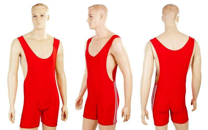 Трико для тяжелой атлетики мужское синее и красное Красный, L - ADX.IN.UA в Одессе