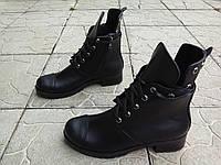Стильные женские ботинки в стиле Gre/der.  Полностью натуральная кожа, внутри на байке.в черном цвете.