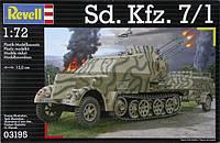 Зенитная самоходная установка Sd.Kfz. 7/1 на базе 8-тонного полугусеничного тягача; 1:72, Revell