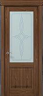 """Двери межкомнатные Папа Карло """"Milenium ML-11 бевелс"""" орех"""