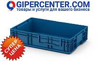 Пластиковый ящик RL-KLT 6147 с гладким дном (594х396х147 мм) голубой