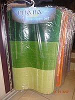 Коврик для ванной и туалета зеленый