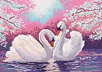 """Схема для вышивки бисером """"Лебеди"""", А3"""