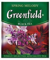 "Чай в пактиках черный Greenfield ""Spring melody"" 100шт Чебрец с мятой"