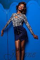Женская стильная блуза Бриз комбинированный_3 Jadone 42-50 размеры